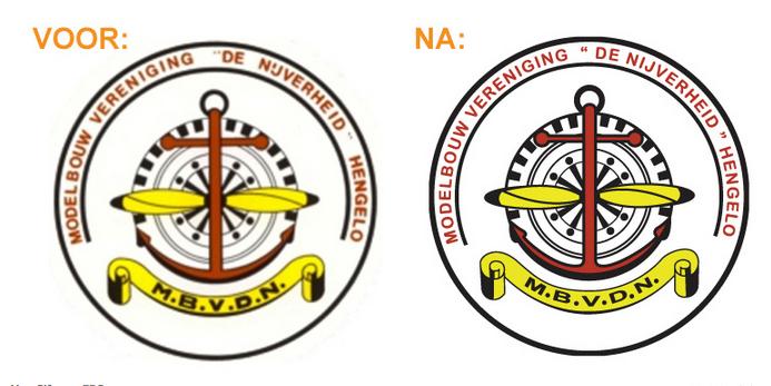 Voorbeeld van een logo die ik heb gevectoriseerd